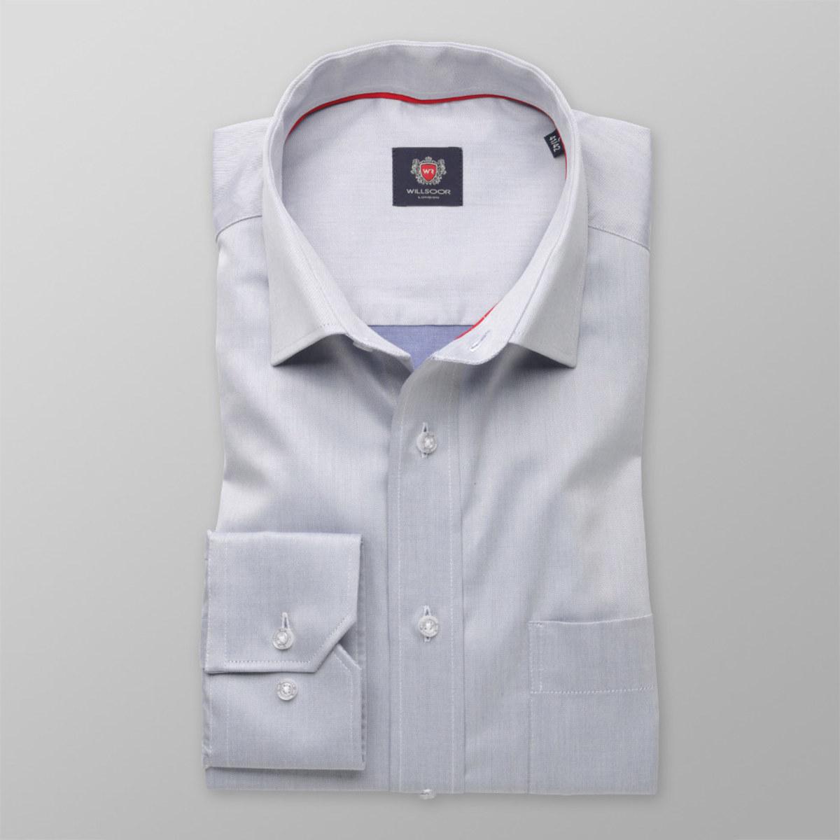 Pánska klasická košeľa London (výška 198-204) 8322 v šedé farbe 198-204 / L (Golier 41/42)
