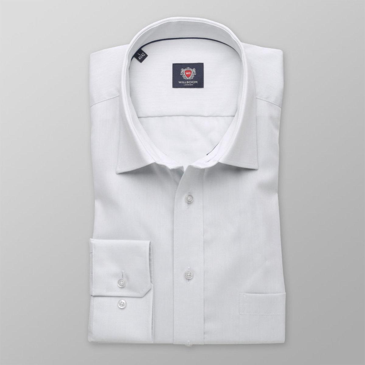 62e8d48761df Pánska klasická košeľa London (výška 176-182) 8361 v šedé farbe s úpravou