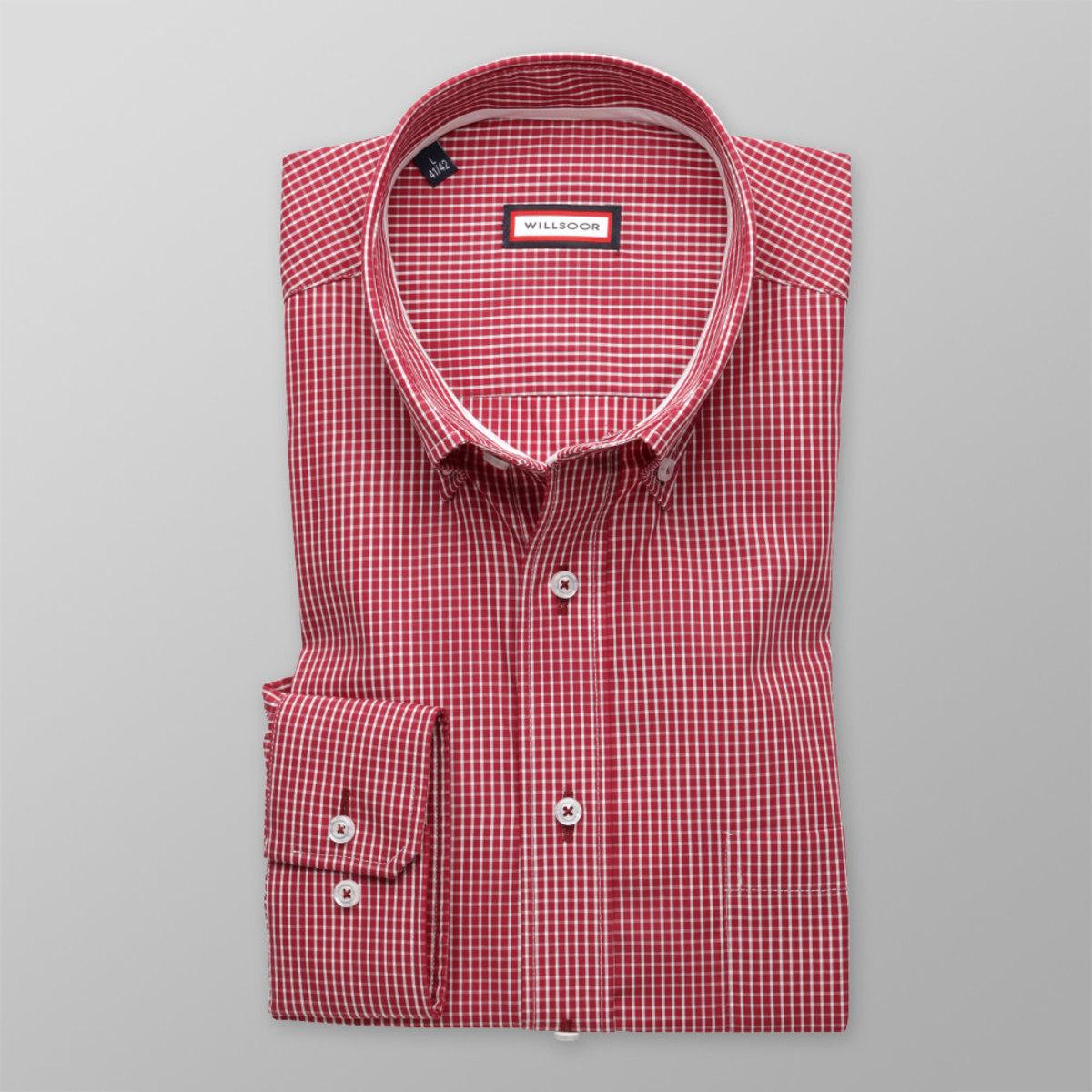 Pánska klasická košeľa (výška 176-182) 8389 v červené farbe s úpravou easy care 176-182 / XXL (45/46)