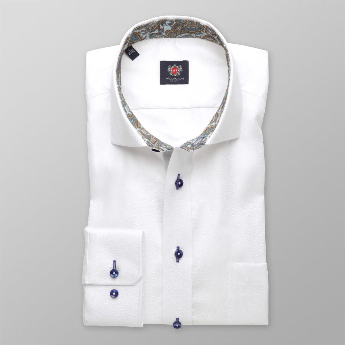 Pánska klasická košeľa London (výška 176-182) 8395 v biele farbe 176-182 / XL (43/44)