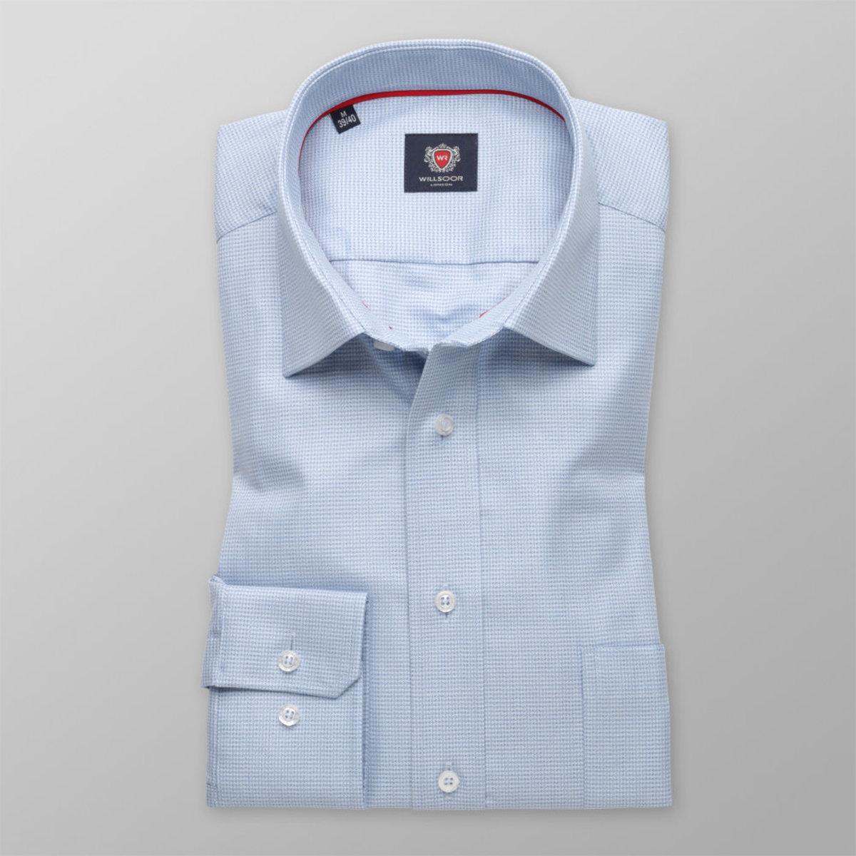 Pánska klasická košeľa London (výška 176-182) 8588 v modré farbe s úpravou easy care 176-182 / XL (43/44)