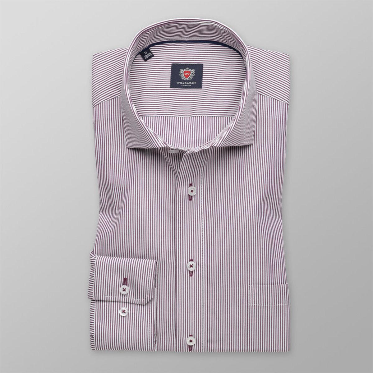 Pánska klasická košeľa London (výška 176-182) 8595 s farebnými pásikmi 176-182 / L (41/42)