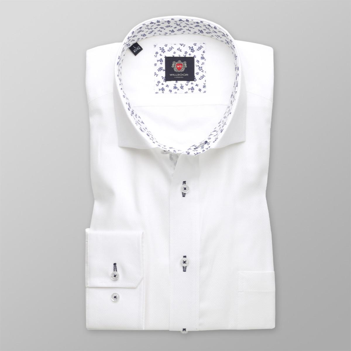 Pánska klasická košeľa London (výška 176-182) 8643 v biele farbe 176-182 / XL (43/44)