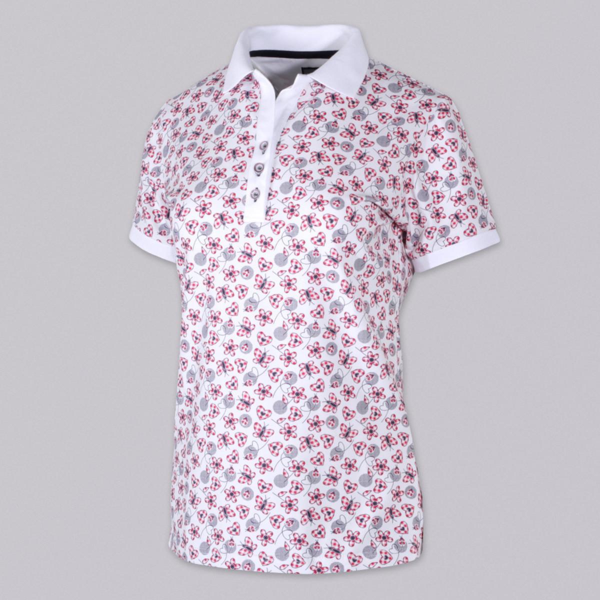 dc66a8ac6c97 Dámske Polo tričko 9460 sa vzorom kvietkov