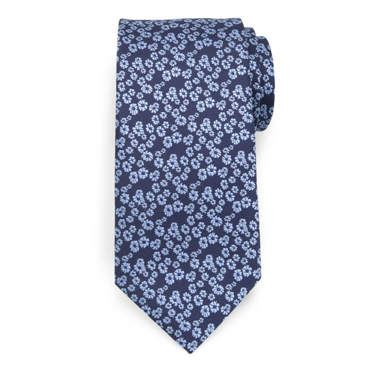 Klasická kravata s jemným rastlinným vzorom 9627