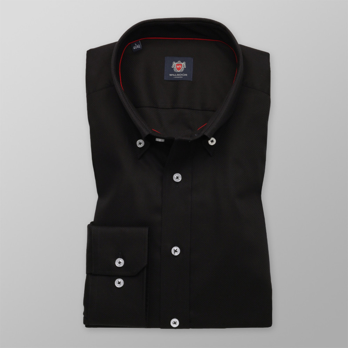 Košeľa London čierna (výška 176 - 182) 9882 176-182 / L (41/42)