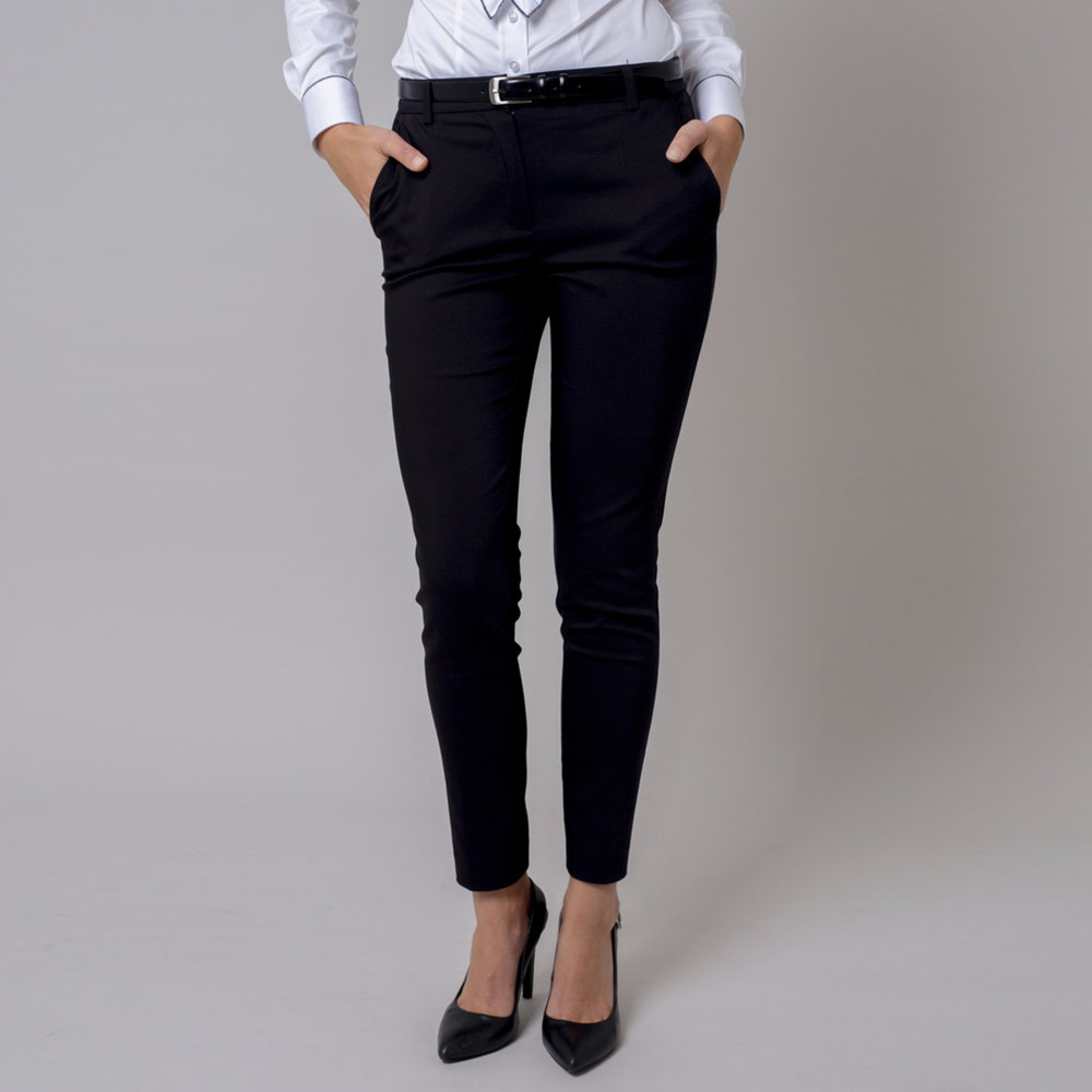 Čierne dámske spoločenské nohavice 10140 42