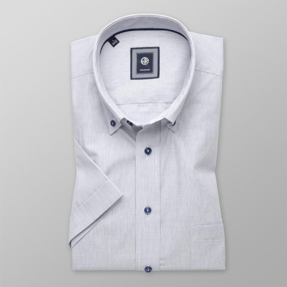 eb405a55057c Košeľa Slim Fit s jemným kockovaným vzorom (výška 176 - 182) 10717 ...