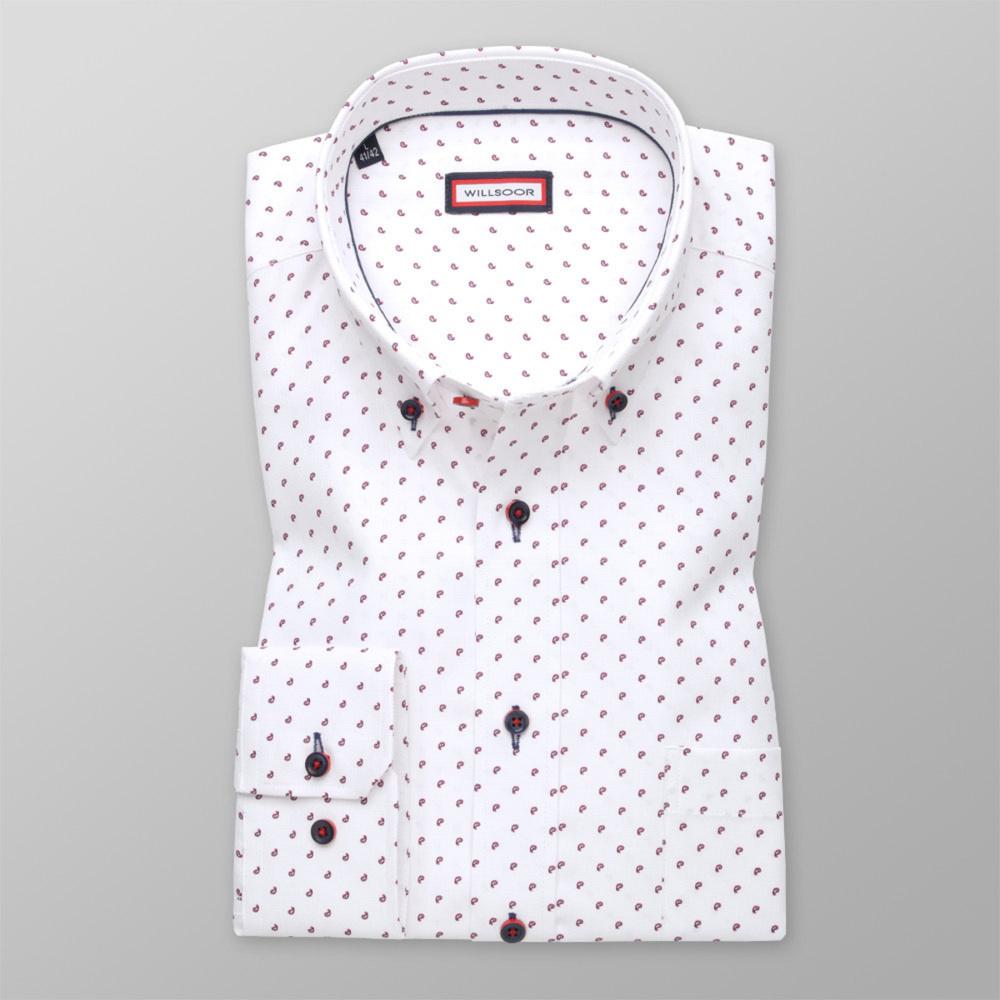 Košeľa klasická s jemným bordovým vzorom (výška 176 - 182 a 188 - 194) 11007 176-182 / L (41/42)