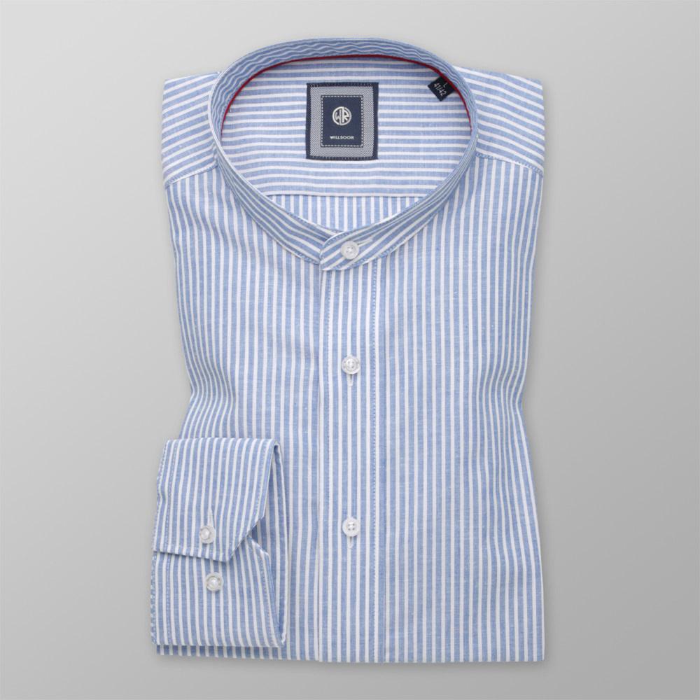Pánska košeľa Slim Fit biely pruhovaný vzor 11168 176-182 / L (41/42)
