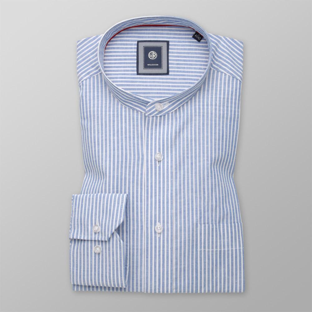 Pánska košeľa klasická biely pruhovaný vzor 11169 176-182 / L (41/42)
