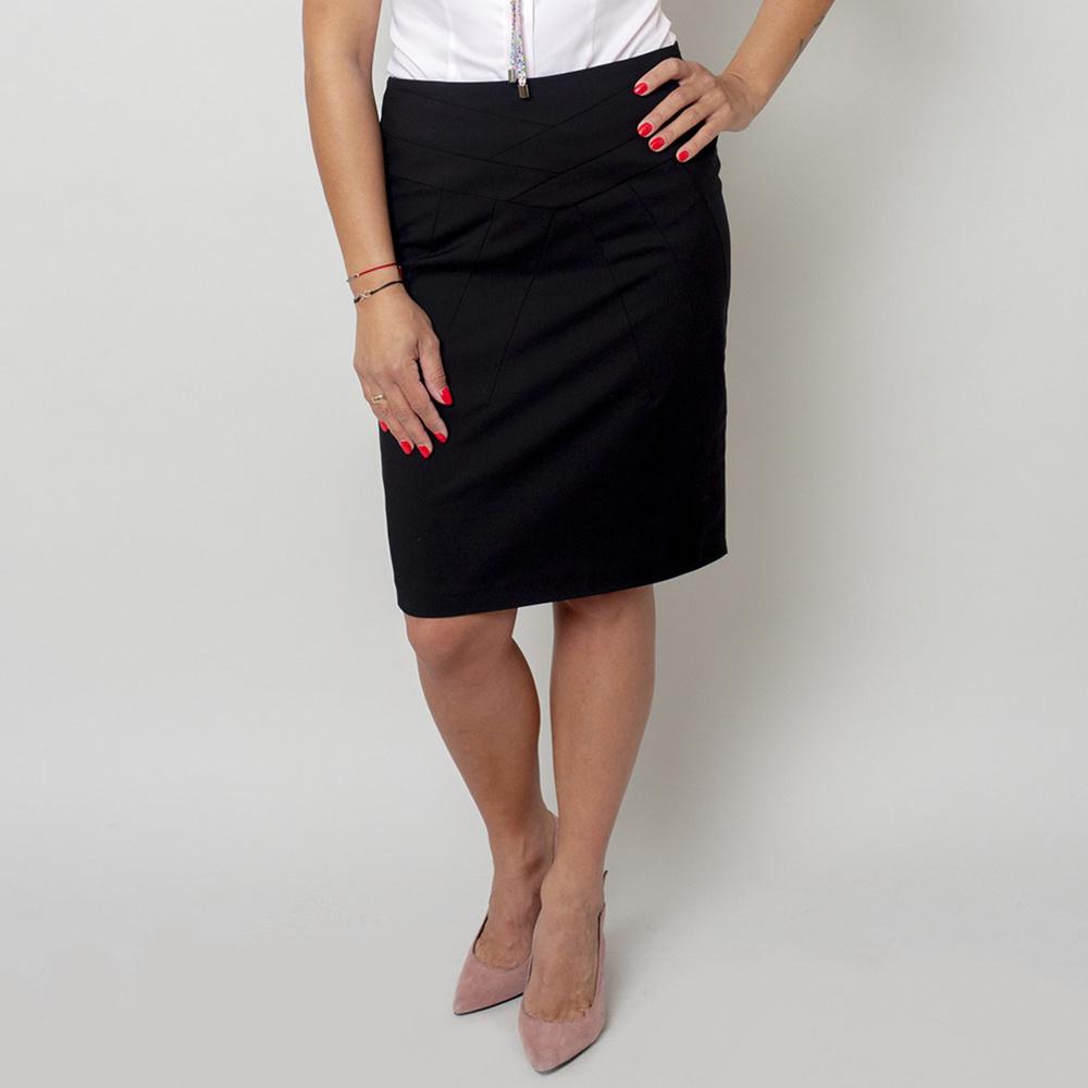 Elegantná čierna sukňa 11401 42