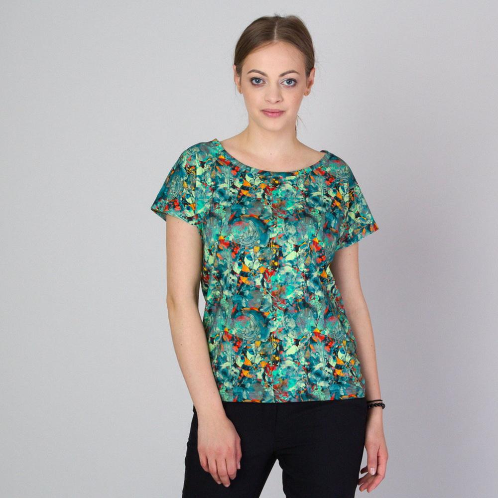 Dámske tričko s rastlinnou potlačou 11787 S