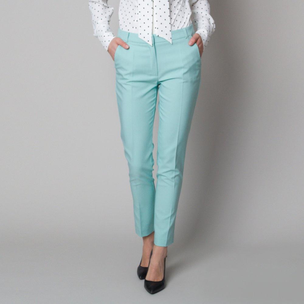 Dámske spoločenské nohavice mätovej farby 12570 42