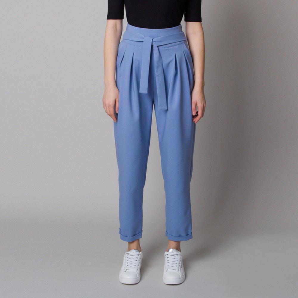 Dámske 7/8 rovné nohavice modré 12633 34