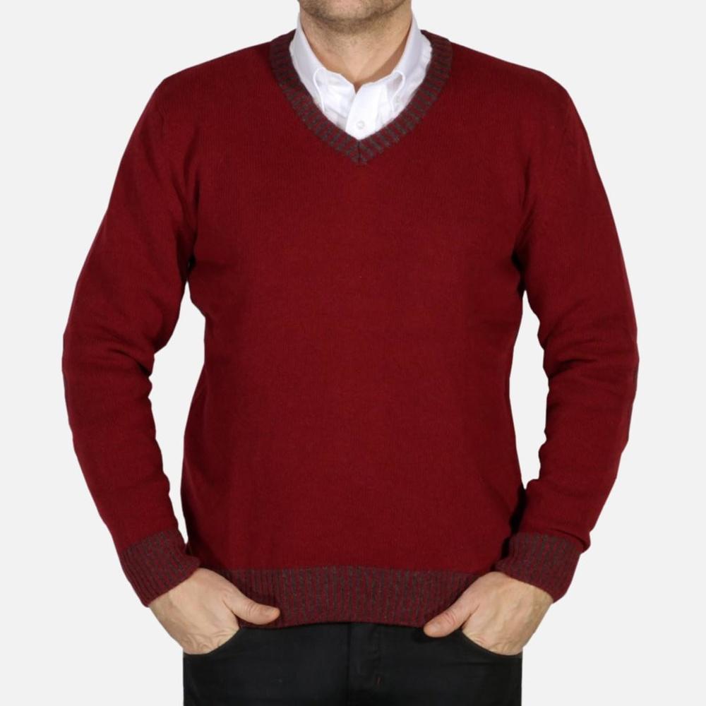 10e65031854c Pánsky sveter Willsoor 4406 v bordó farbe - Košele Willsoor