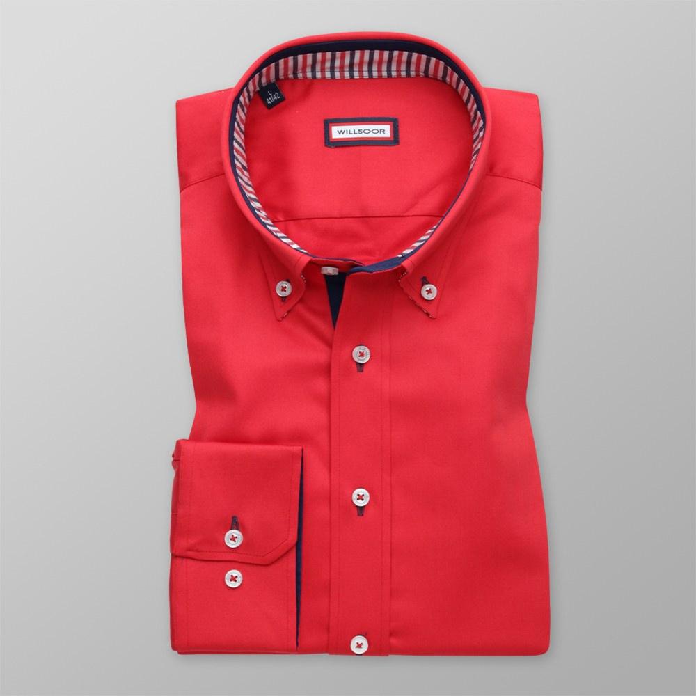 Pánska košele WR Slim Fit v červené farbe (výška 176-182) 4539 176-182 / M (39/40)