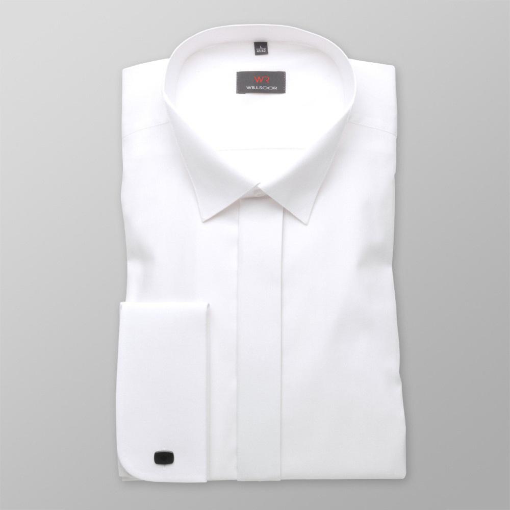 Pánska košele WR Slim Fit v biele farbe (výška 176-182) 4577 176-182 / M (39/40)