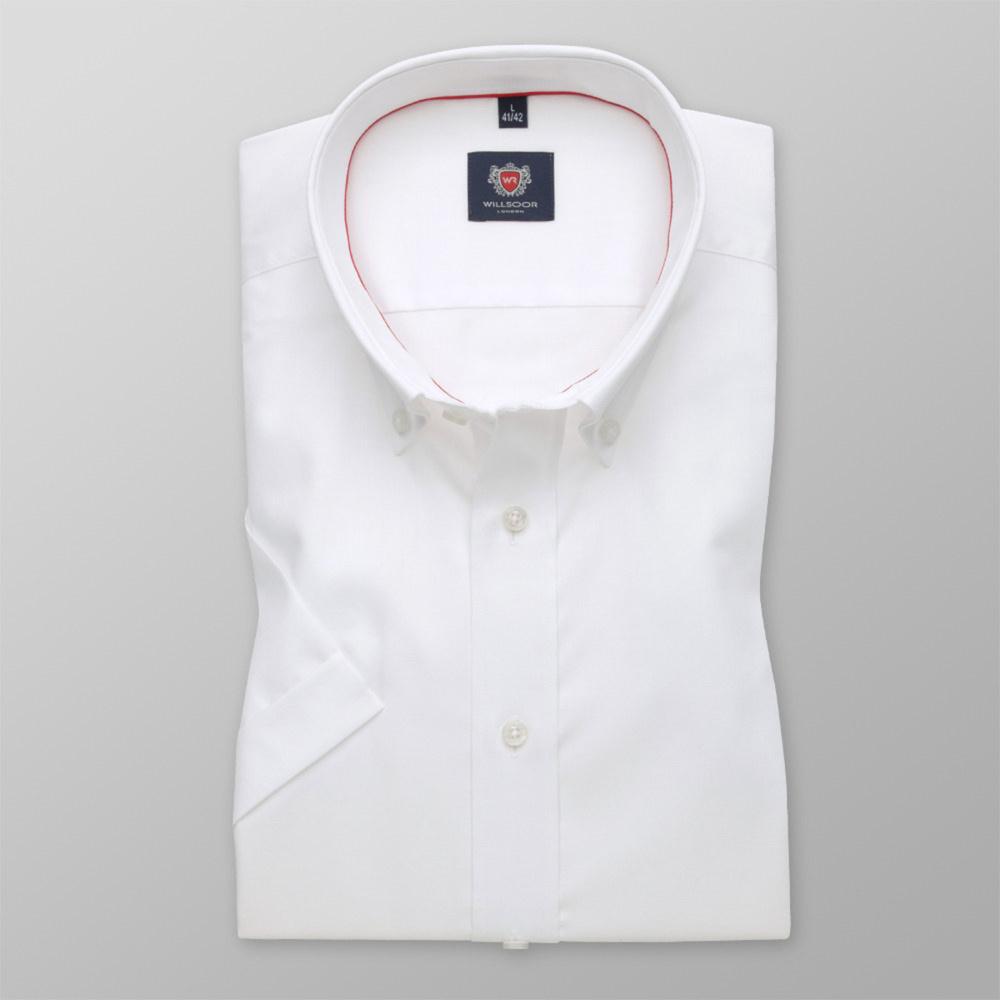 Pánska košele WR London slim fit s krátkym rukávom v biele farbe (výška 176-182) 4795 176-182 / S (37/38)