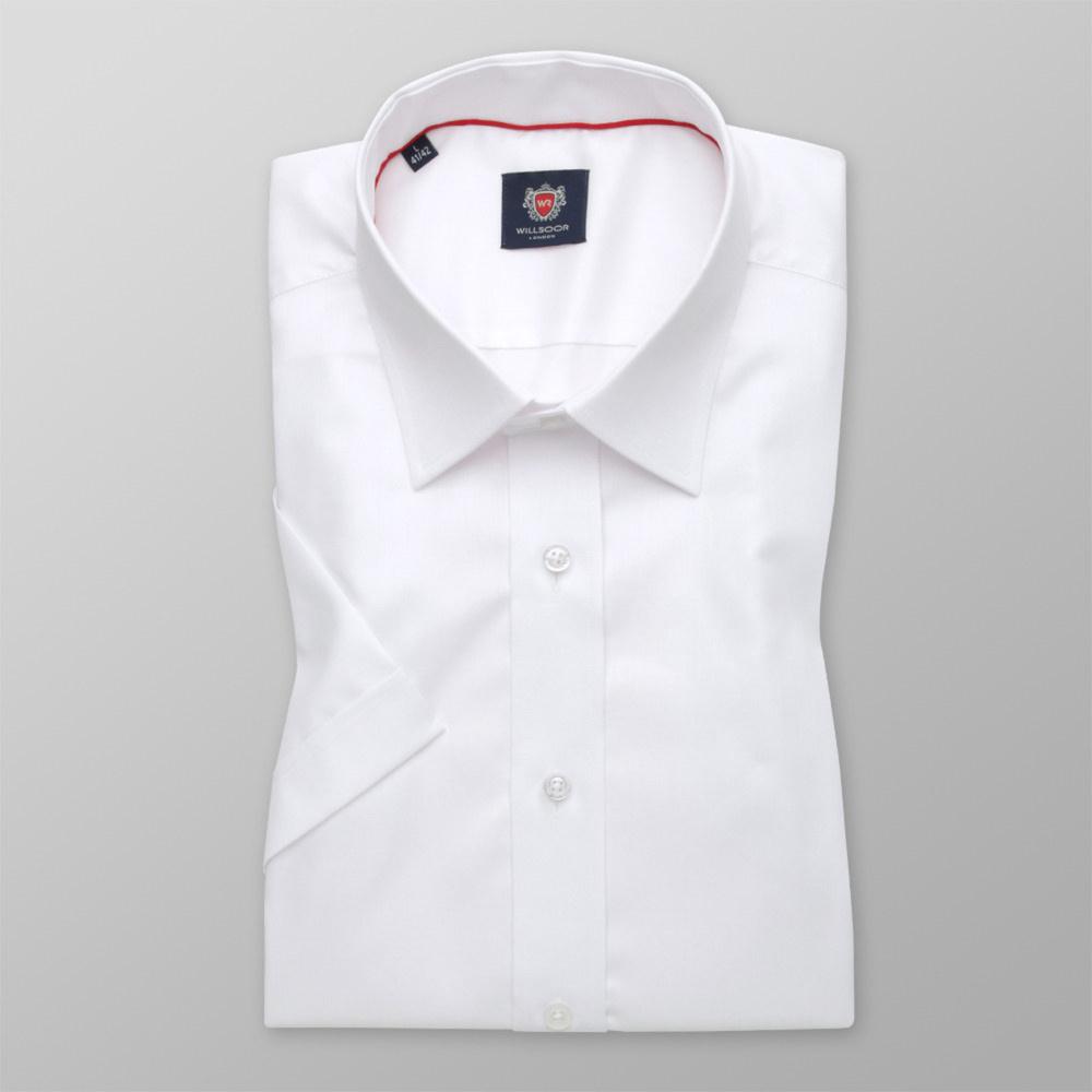 Pánska košele WR London slim fit s krátkym rukávom v biele farbe (výška 176-182) 4796 176-182 / S (37/38)