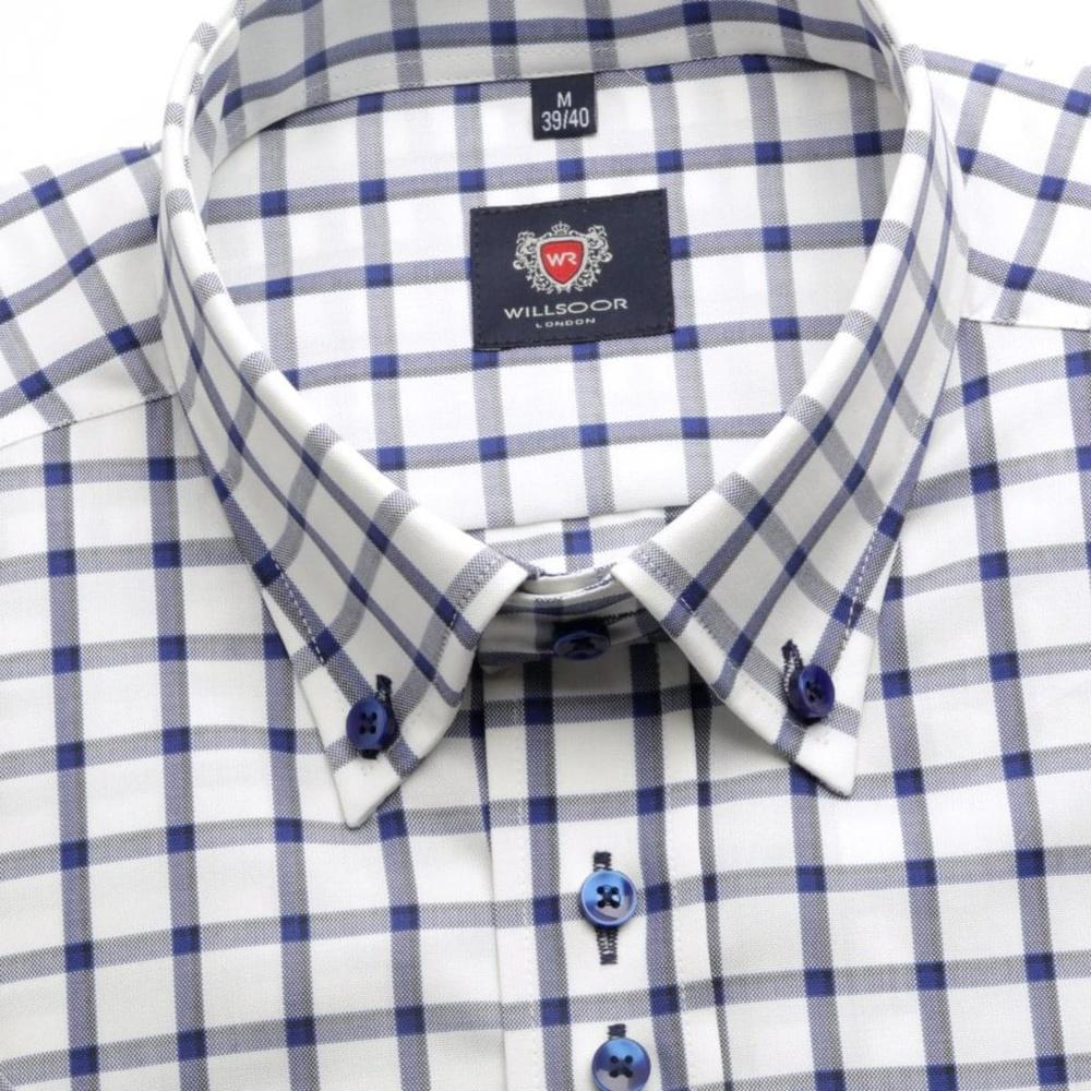 24eebeb413fd Pánska košeľa WR London s krátkym rukávom v biele farbe s kockou (výška 176-