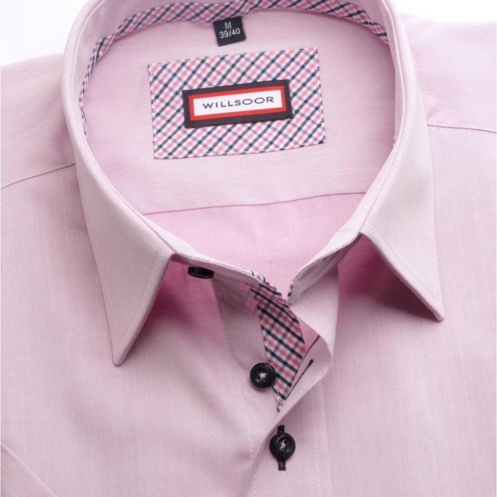 8355e954de71 Pánska košeľa WR Slim Fit s krátkym rukávom vo fialkovej farbe (výška  176-182