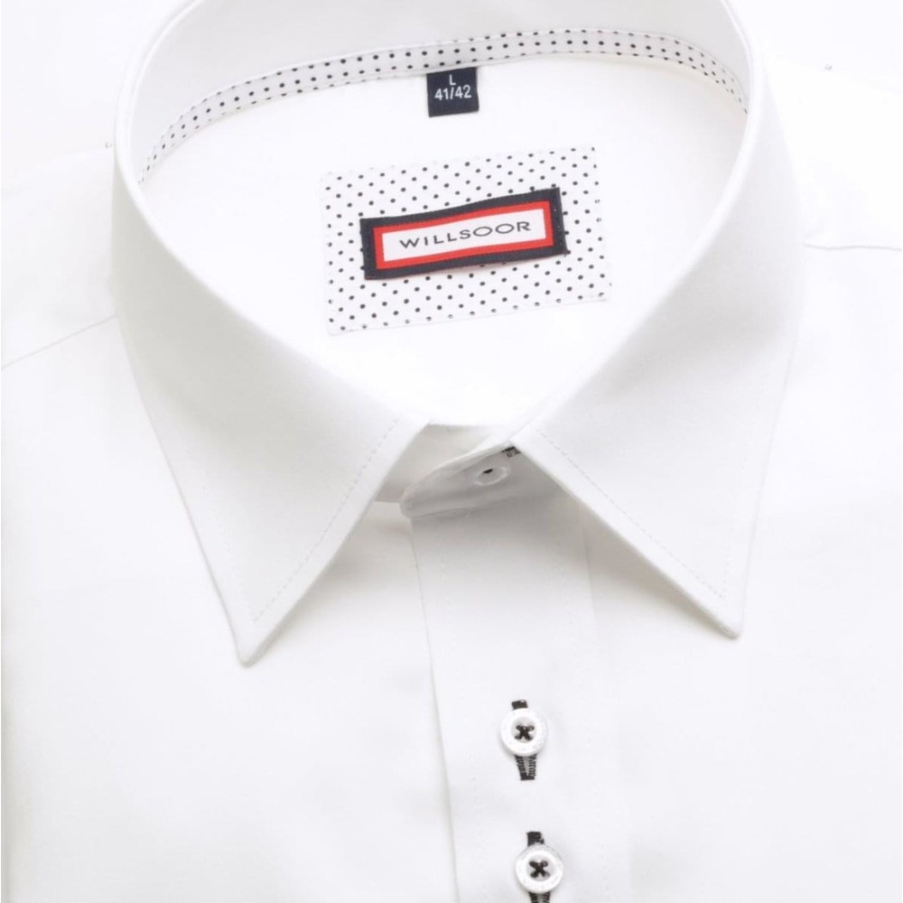 5fb857b8d83c Pánska košeľa WR Slim Fit v biele farbe (výška 176-182) 5162 ...