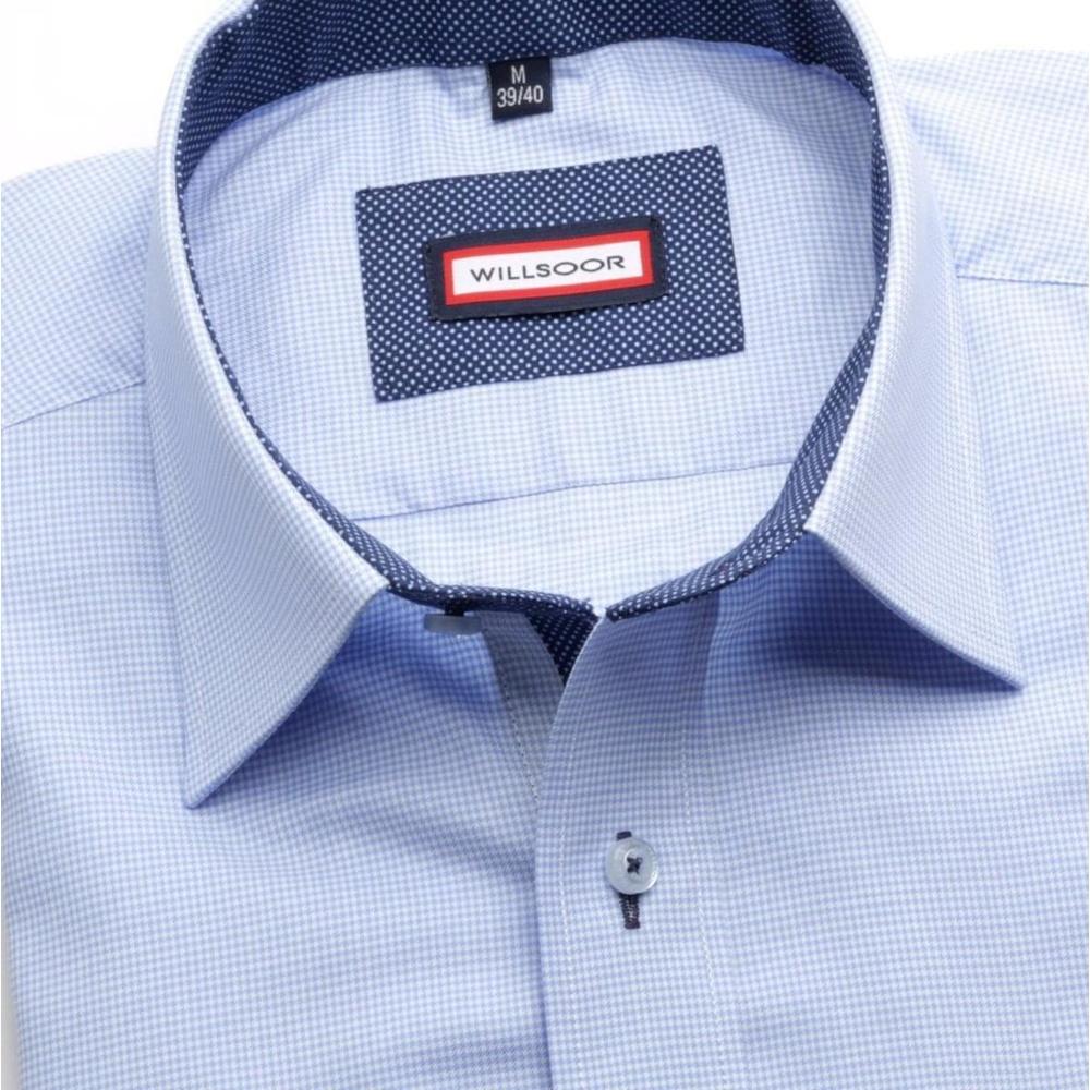 Pánska košele Slim Fit (výška 164-170) 5792 v modré farbe 164-170 / S (37/38)