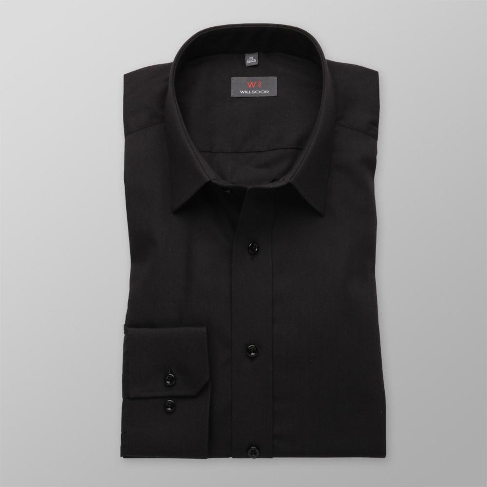 Pánska košele Slim Fit (výška 176-182) 5830 v čierne farbe 164-170 / S (37/38)