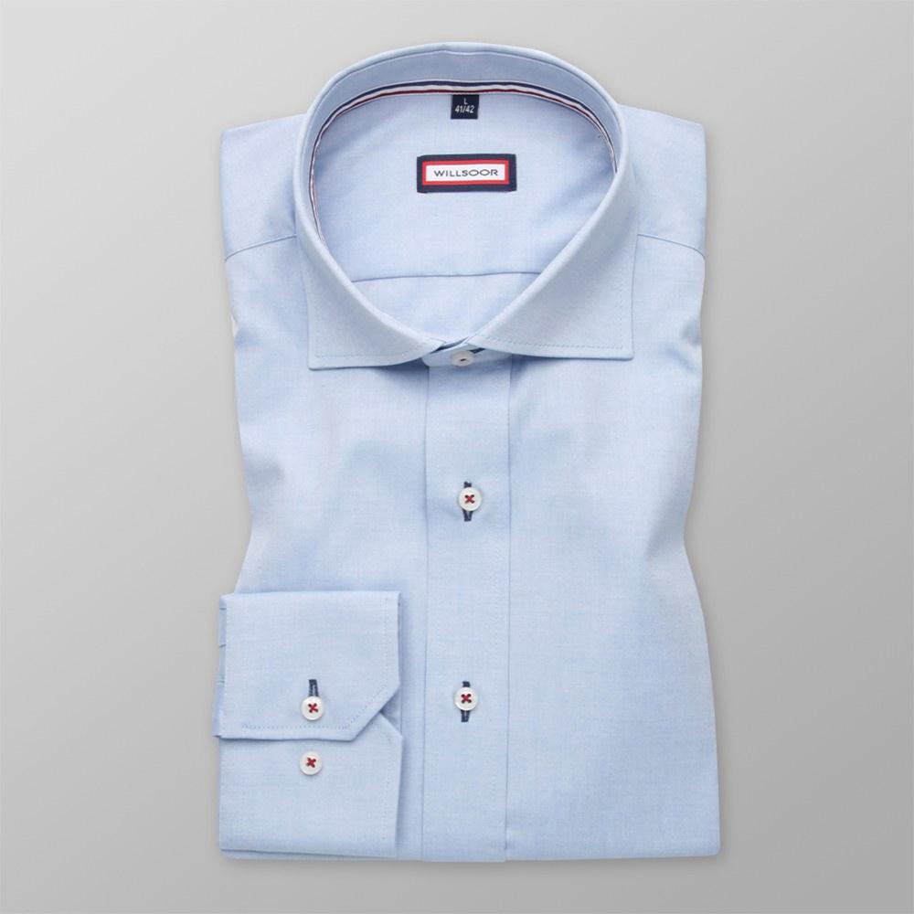 Pánska košele Slim Fit (výška 176-182) 5890 v modré farbe s formulou Easy Care 176-182 / M (39/40)