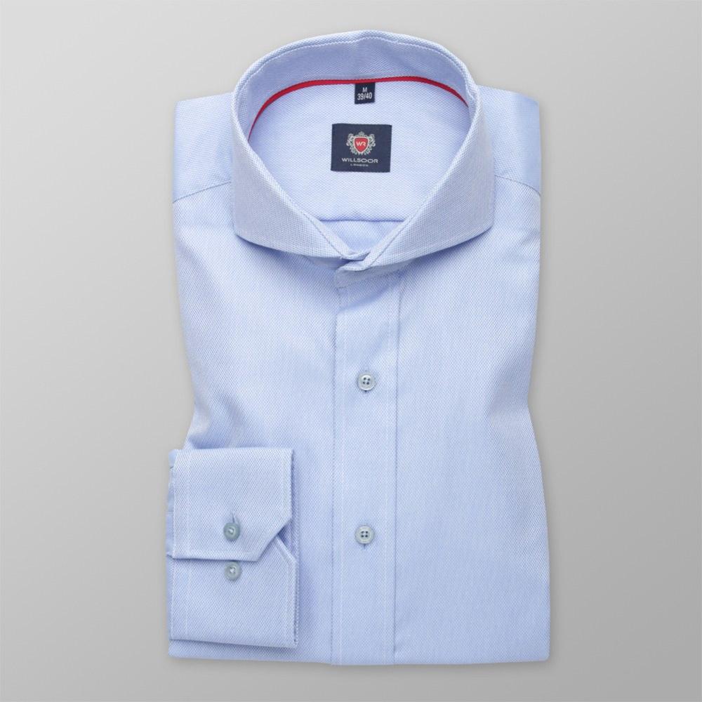 Pánska slim fit košele (výška 176-182) 6321 vo svetlo modré farbe s formulou Easy Care 176-182 / L (41/42)