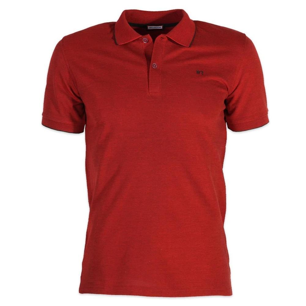 723f2e763d00 Pánske polo tričko Willsoor 6434 v bordó farbe s krátkym rukávom ...