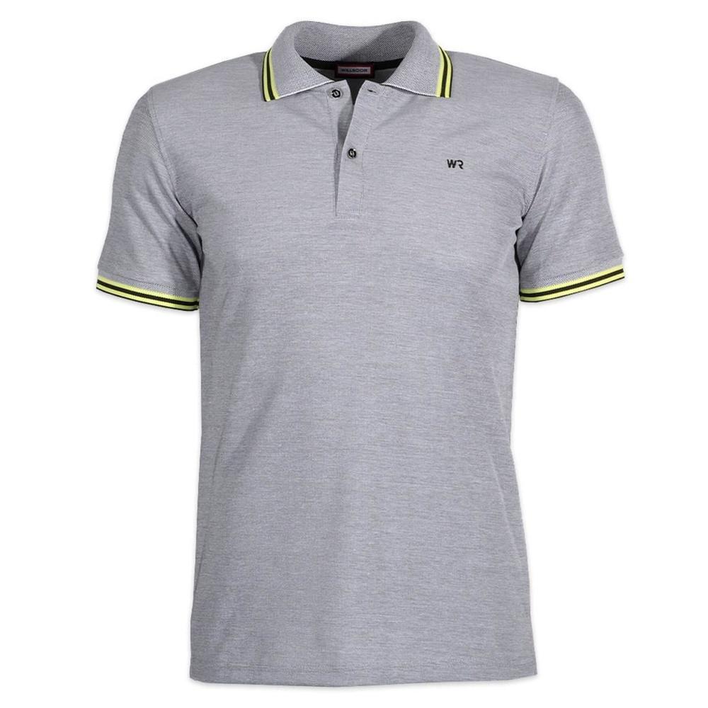 b5205ebabbb1 Pánske polo tričko Willsoor 6437 v modré farbe s krátkym rukávom ...