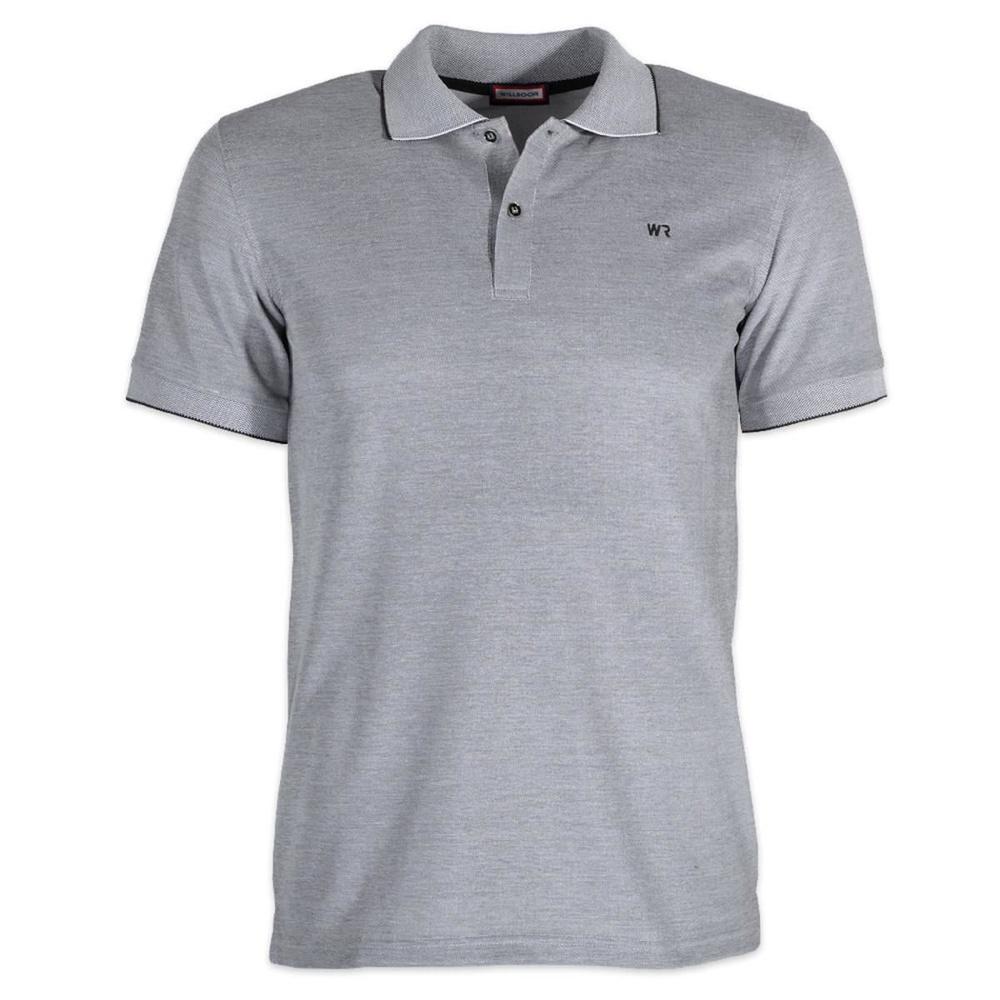 47cd261bf033 Pánske polo tričko Willsoor (veľkosť XXXL - 5XL) 6444 v šedé farbe s krátkym.  krátky rukáv