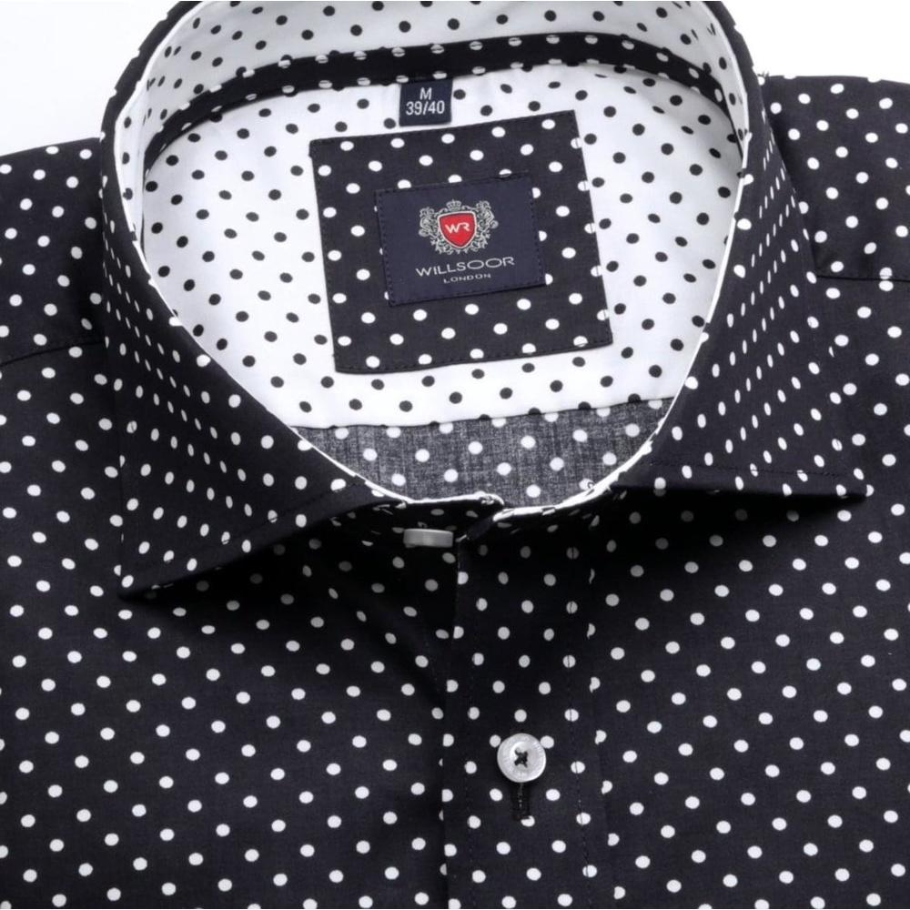 387fd8778 Pánska klasická košeľa London (výška 176-182) 6728 v čierne farbe ...