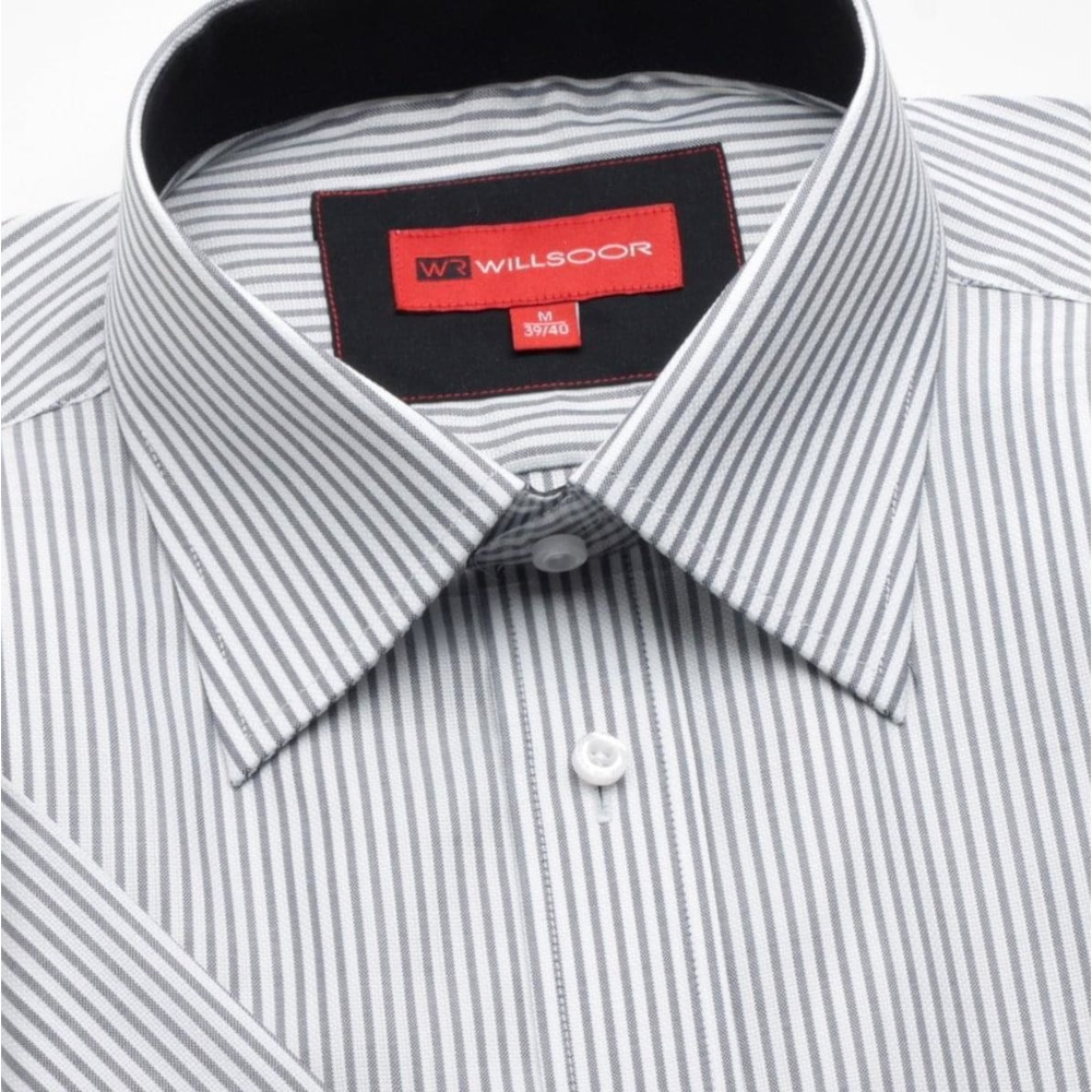 e663e67ae91b Pánska slim fit košeľa krátkym rukávom (výška 176 182) 742 s pásikmi ...