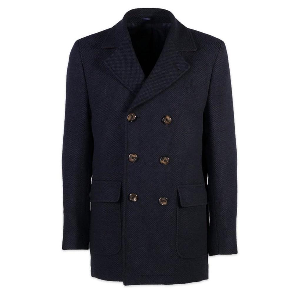Pánsky kabát Willsoor (výška 176-182 i 188-194) 7435 vo tmavo modré farbe 176 -182 / 52 (L)