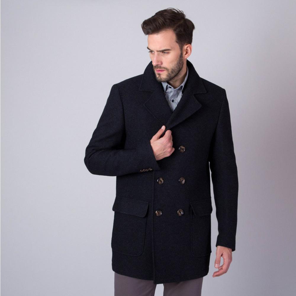 Pánsky kabát Willsoor (výška 176-182 i 188-194) 7436 v čierne farbe 176 -182 / 54 (L)