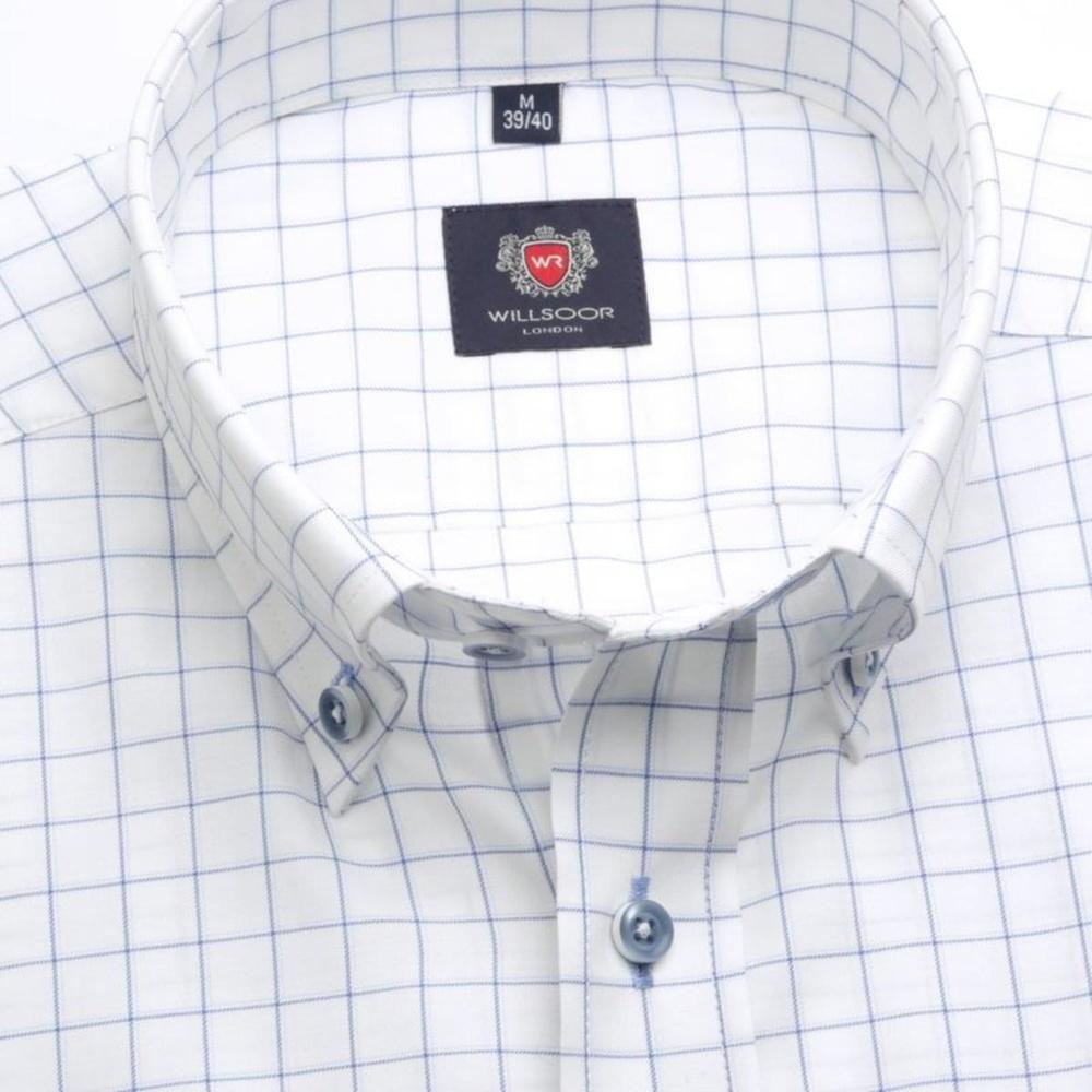 560f9a184 Pánska slim fit košeľa London (výška 176-182) 7566 v biele farbe s ...