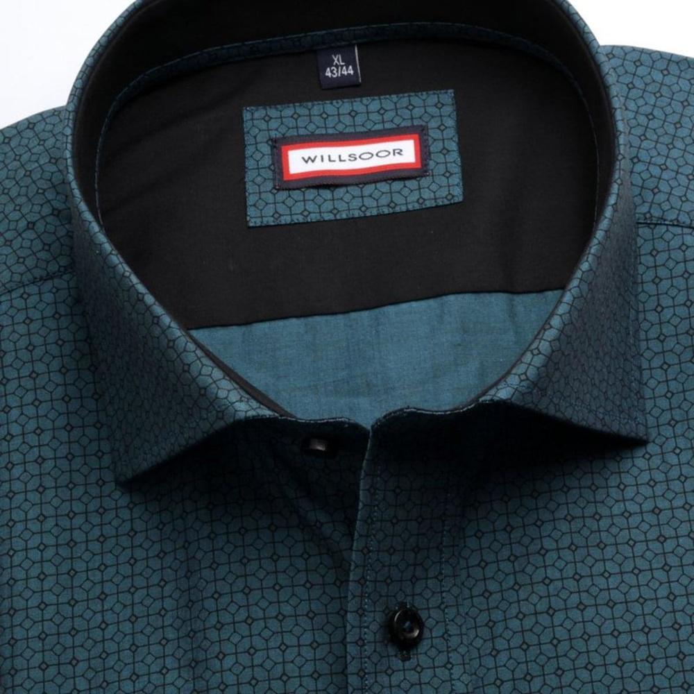 4d97a3831eb3 Pánska slim fit košeľa (výška 176-182) 7614 v tyrkysové farbe s úpravou