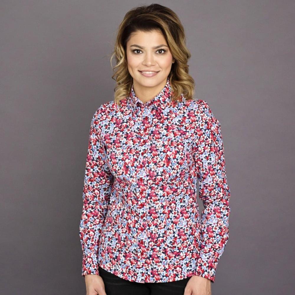 75b700485880 Dámska košeľa Willsoor 7698 s farebným kvetinovým vzorom - Košele ...
