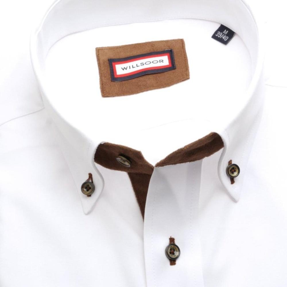 90926678ea53 Pánska klasická košeľa (výška 188-194) 7725 v biele farbe s úpravou easy