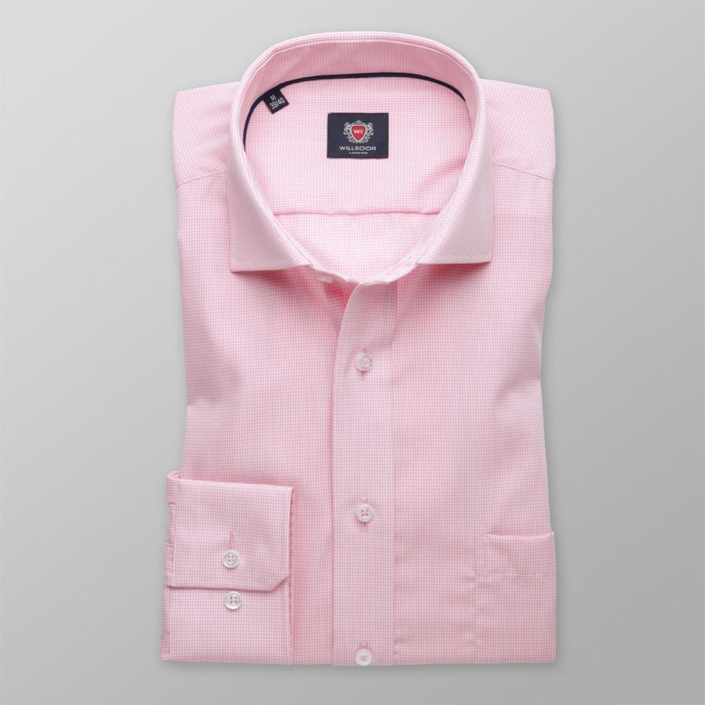 370f464a4e88 Pánska slim fit košeľa London (výška 176-182) 8392 v ružové farbe s ...