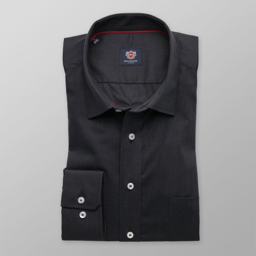 91184ee52bf1 Pánska slim fit košeľa London (výška 188-194) 8512 v grafitové farbe ...