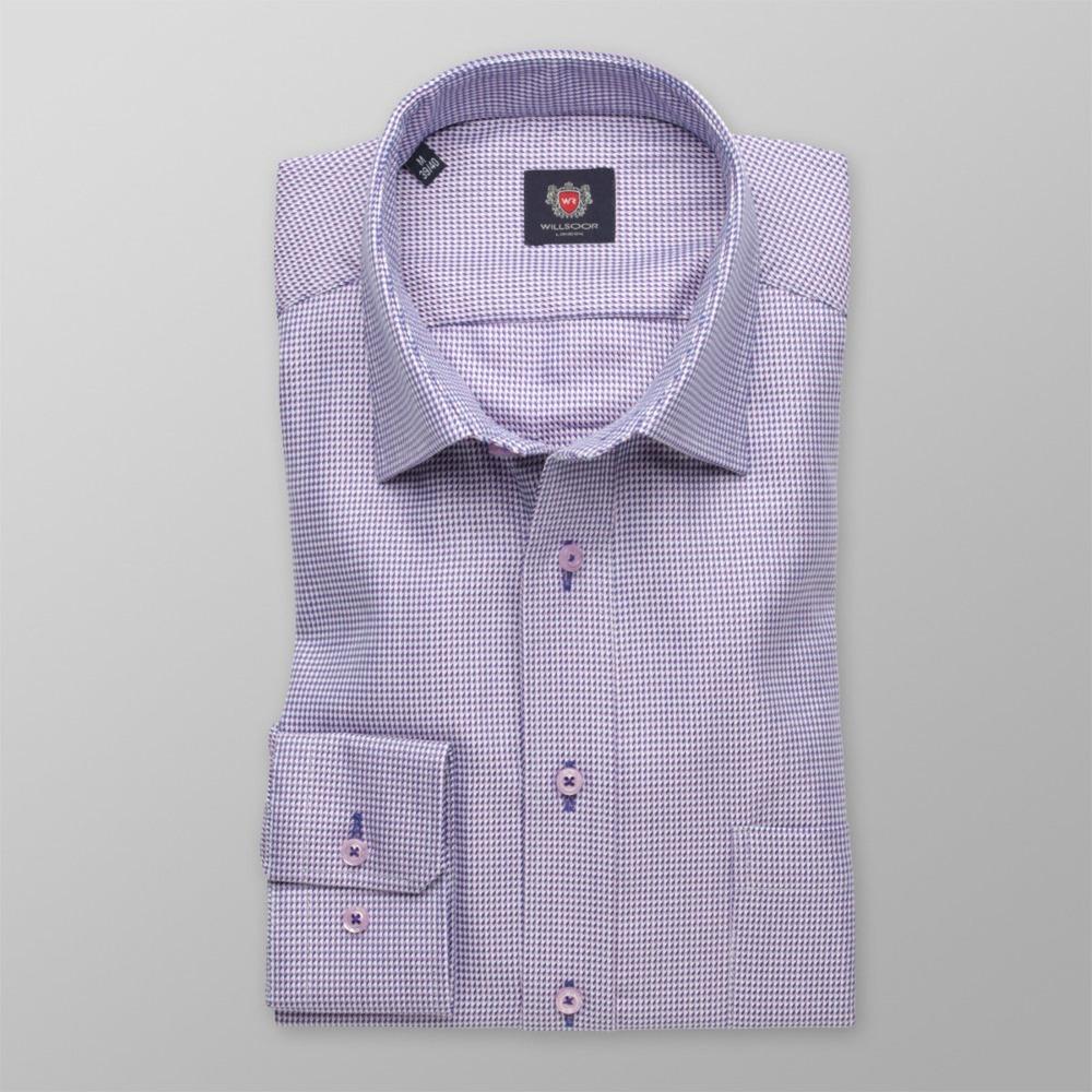 f531c5f2f42f Pánska slim fit košeľa London (výška 176-182) 8573 s jemným vzorom a ...