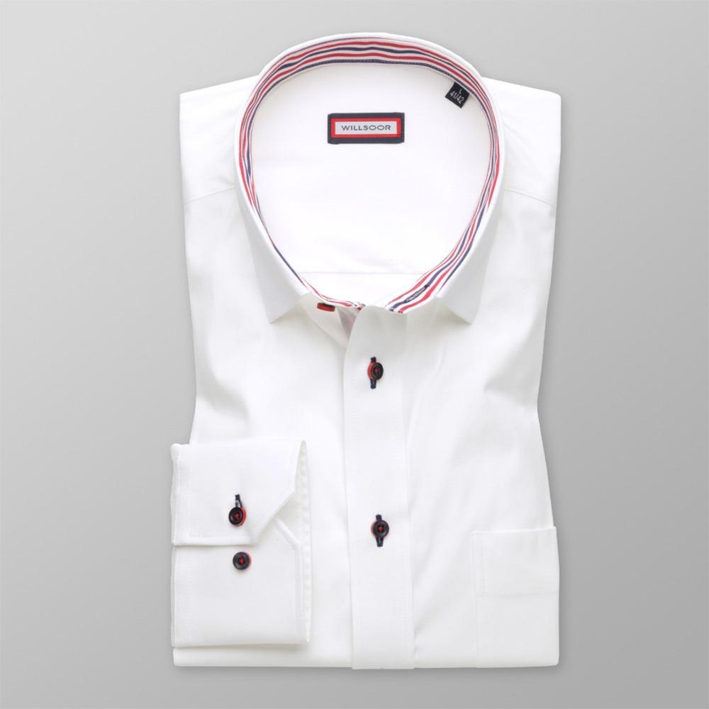 ea640bc48fca Pánska klasická košeľa (výška 176-182 i 188-194) 8706 v biele farbe ...