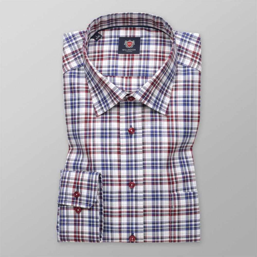 36c12835a7ab Pánska košeľa London klasická (výška 176 - 182) 9612 kockovaný vzor ...