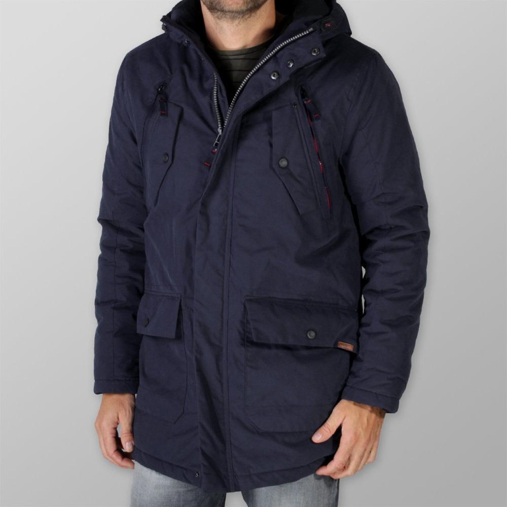 Pánska bunda na zips tmavo modrá 9899 L
