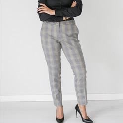 7081352c48ee Dámske nohavice s károvaným vzorom 10142 - Košele Willsoor