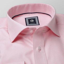 5e4fad221cc3 Košeľa London ružový kockovaný vzor (výška 176 - 182) 10444 - Košele ...